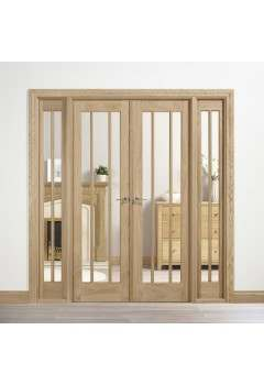 Internal Oak Lincoln W6 with Clear Glass Untreated