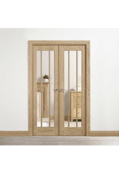 Internal Oak Lincoln W4 with Clear Glass Untreated