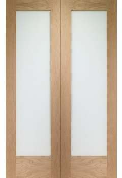 Internal Door Pair Oak Pattern 10 with Clear Glass (xl)