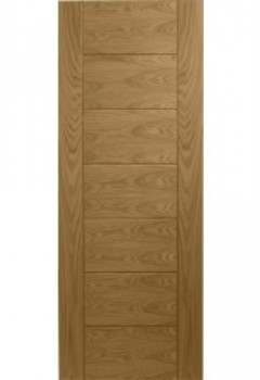 CLEARANCE - Internal Fire Door Oak Palermo with SATIN CLEAR LACQUER - 2040 x 726 x 44mm (x2)