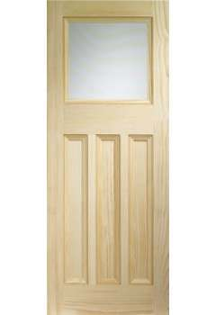 XL Internal Door Vertical Grain Pine Vine DX with Obscure Glass