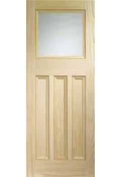 XL Internal Door Vertical Grain Pine Vine DX with Obscure Glass