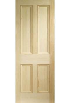 XL Internal Door Vertical Grain Pine Edwardian 4 Panel