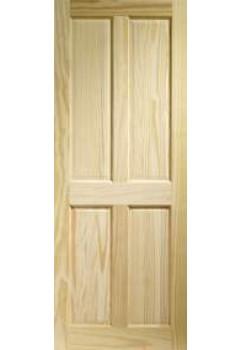 XL Internal Door Victorian Clear Pine 4 Panel