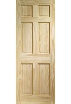 XL Internal Door Colonial Clear Pine 6 Panel