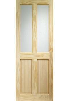 XL Internal Door Clear Pine Victorian with clear glass