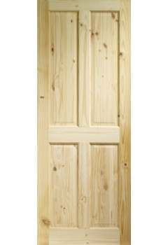 Internal Door Knotty Pine Victorian 4 Panel