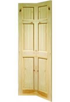 XL Internal Door Knotty Pine Colonial 6 Panel Bi-Fold