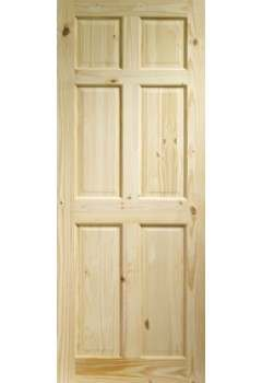 XL Internal Door Knotty Pine Colonial 6 Panel