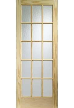 XL Internal Door Knotty Pine SA77 with Flemish Glass