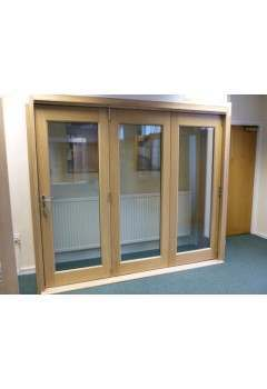 6ft External Oak La Porte Vista Folding Doors XL Pre Finished