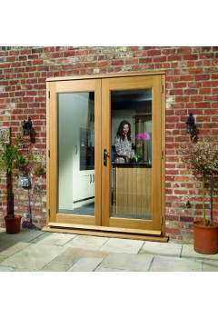 External French Door 5ft Oak La Porte Doorset Pre Finished