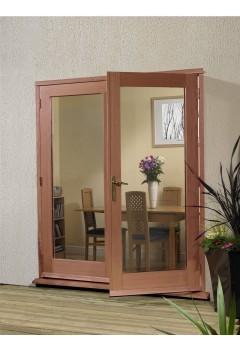 External French Door 4ft Hardwood Meranti La Porte Doorset XL