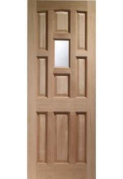 XL External Door Hardwood York Unglazed Dowelled