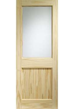 XL External Doors Pine 2XG with Clear Glass