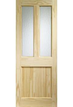 XL External Door Pine Malton with Flemish Glass