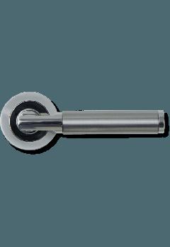 Door Handle Topaz PCP/MNP Lever on 51mm Round Rose