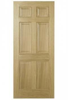 Internal Door Oak Regency 6 Panel with non raised moulding Unfinished DISCONTINUED