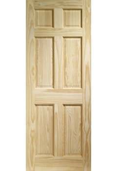 Internal Fire Door Colonial 6 Panel Clear Pine