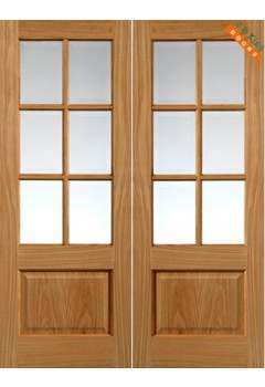 Internal Door Oak Dove Pairs