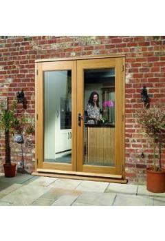 External French Door 6ft Oak La Porte Pre Finished