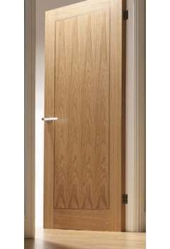Internal Door Oak Inlay 1 Panel with Walnut Inlay Pre finished SPECIAL OFFER