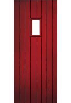 External Pre Hung Chancery Composite Door Set with Decorative Glass