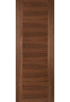 Internal Fire Door Walnut Aspect Cross-Veneered Flush Prefinished