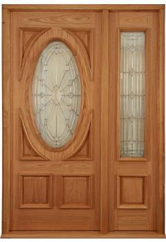 External Door Oak Sovereign Door with Empress Sovereign Sidelight and Sidelight Frame Kit