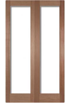 Internal Door Pair  Hardwood Pattern 20 UNGLAZED Untreated - To Glaze on site