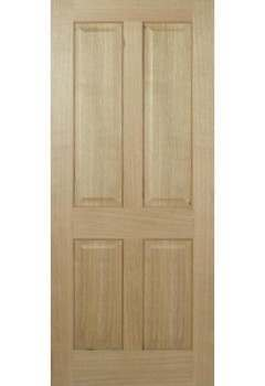 Internal Door Oak Regency 4 Panel non raised mouldings Prefinished LPD 10 + for further discount