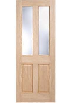 Internal Door Oak Richmond with Clear Bevelled Glass non raised moulding Untreated LPD SPECIAL OFFER