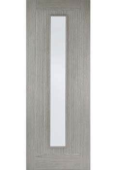 Internal Door Light Grey Stained Somerset 1 Light Clear Glass Prefinished - CLEARANCE - CHECK STOCK LEVELS