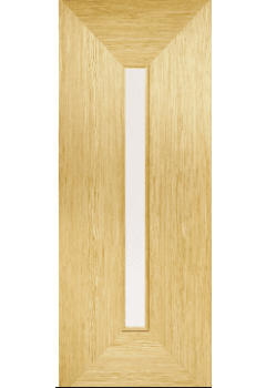 Internal Door Oak Triumph with Clear Glass Prefinished