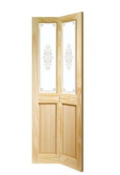 Internal Door Bi Fold Clear Pine Victorian With Campion Glass