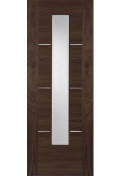 Internal Walnut Door Nova Walnut 1 Light Fire Door