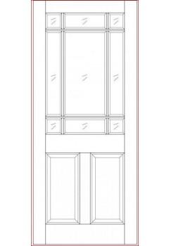 External Door Hardwood Sterling Warwick M&T Unglazed Untreated