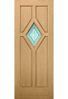 External Door Oak Hereford with Zinc Caming M&T