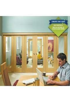 Internal Oak Freefold Door System-Frame-Only
