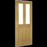 Internal Door Oak Bury Glazed Prefinished angled