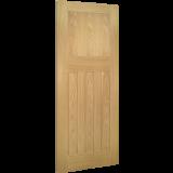 Internal Door Oak Cambridge 1930 4 Panel Untreated angled