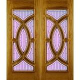 External Oak Door Majestic with Zinc Caming Untreated