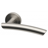 Door Handle Everest Stainless Steel lever on Round Rose