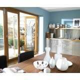 10ft External Oak Nuvu Pre Finished Folding Door Set 3.0m