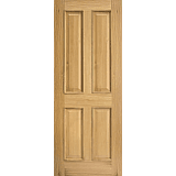 Internal Door Oak Regency 4 Panel with Raised Mouldings Untreated