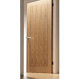 Internal Fire Door Oak Inlay 1 Panel with Walnut Inlay Pre finished SPECIAL OFFER