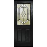 External Pre Hung 2XG Composite Door with Decorative Glass