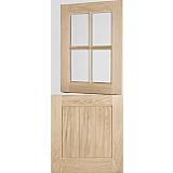 External Door Oak Stable 4 Light Clear Double Glazed