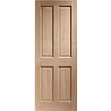 XL External Door Hardwood London 4 Panel Dowelled