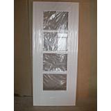 Internal Door White Primed Door Iseo 4 Light Clear Glazed